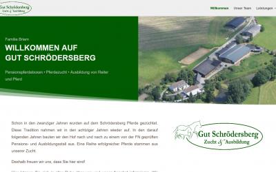 Gut Schrödersberg mit neuer Webseite